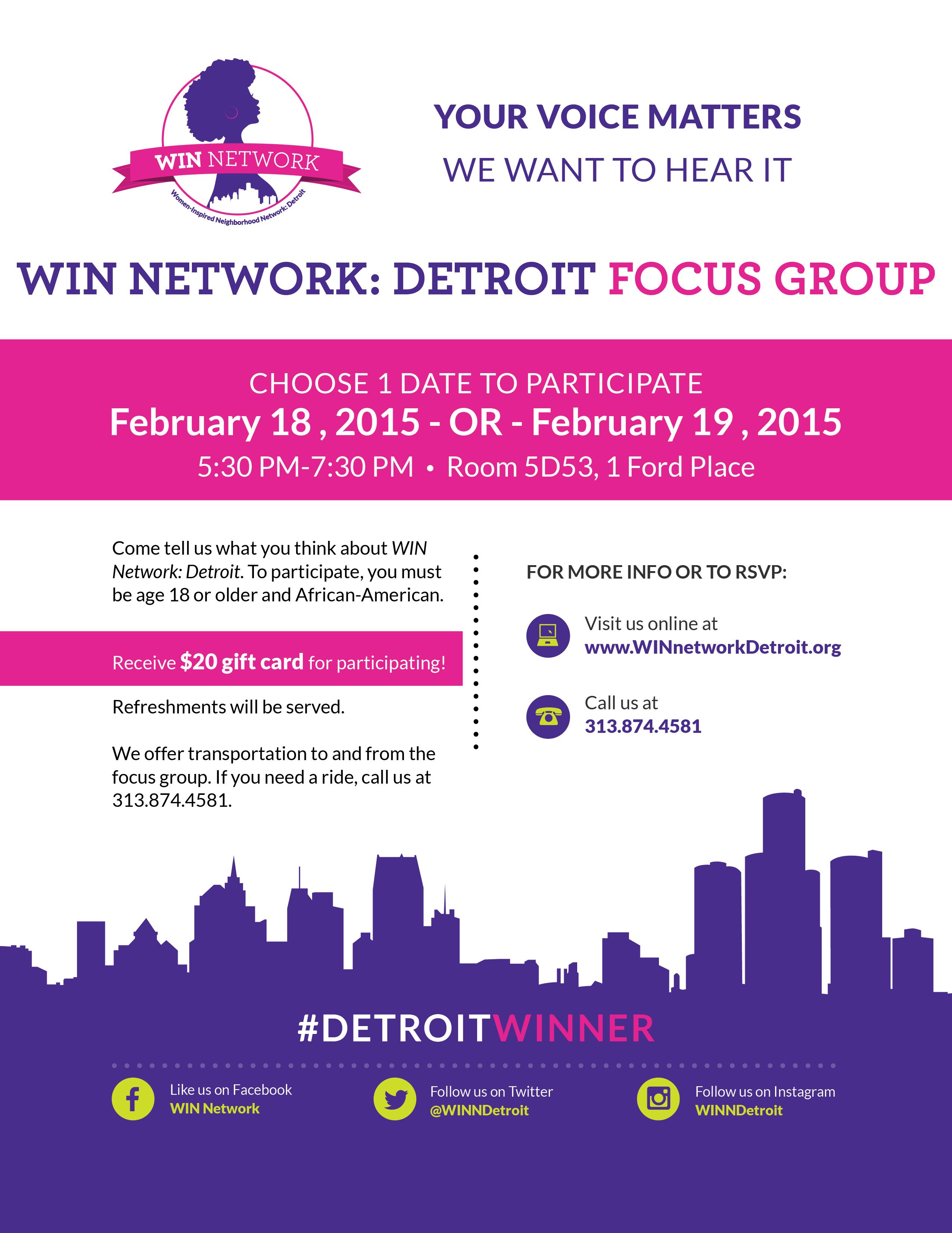 flyer template focus groups 2015 feb 9. Black Bedroom Furniture Sets. Home Design Ideas